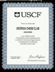 USCF Affiliate Certificate